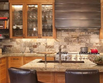 Create A Rustic Natural Backsplash With Stone Tiles