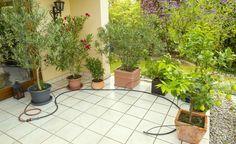 Bewässerungssysteme sparen nicht nur Zeit, sondern auch Wasser. Mit einem Bewässerungscomputer ausgestattet versorgen sie Ihre Balkonkästen und Topfpflanzen auch zur Urlaubszeit zuverlässig.