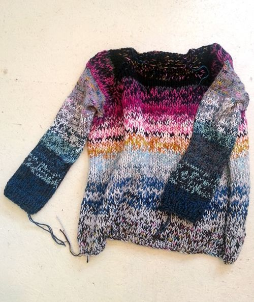 A mix of wools and colours   Sweater knit jumper   Melange marl flecked   Multicoloured