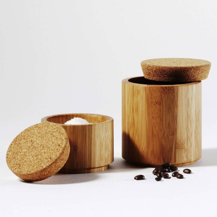 Bamboo And Cork Canister | Cork, Storage jars and Kitchen