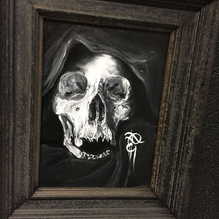 Skull painting by Febianto Eskelinen