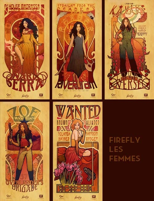 No words for how much I love this: Art Stuff, Fireflies, Firefly Portrait, Art Nouveau, Firefly Serenity Fandom, Artist Megan, Firefly Art