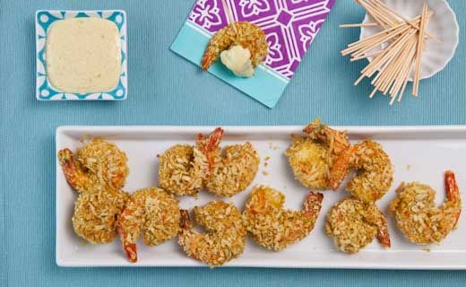 Mango Curry Coconut Shrimp. The great thing about this recipe is that the shrimp are baked, not deep fried like the average coconut shrimp recipe.