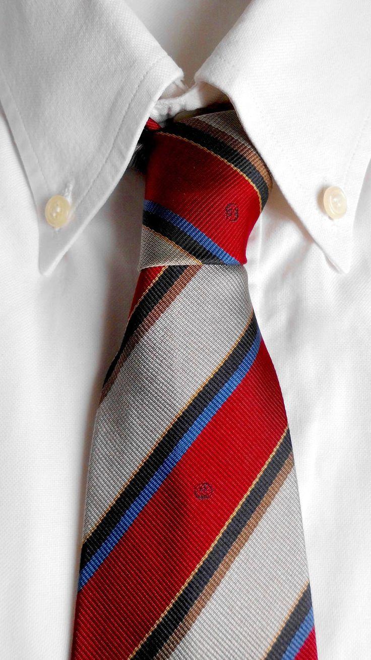 Cravatta Gucci in pura seta vintage originale anni 80. Spedizione gratuita in Europa. Cravatte in seta. Cravatta a righe. Monogramma Gucci di AsiaGvintage su Etsy