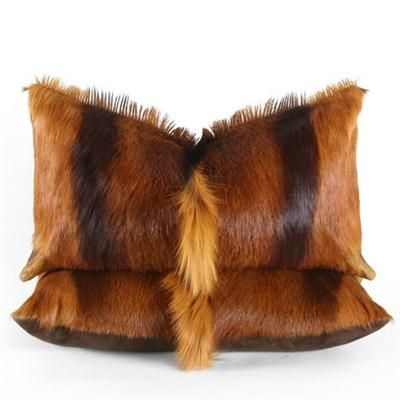 Cognac Hide Pillow From Pfeifer Studio @pfeiferstudio