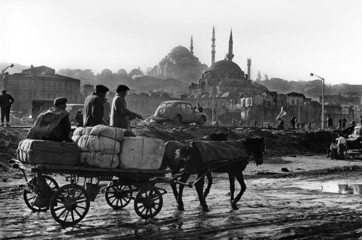 Turkey. 1959. Eminönü after the 1959 demolition work.