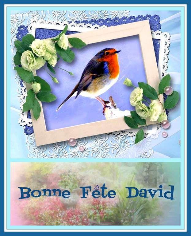 Gifs Bonne Fête prénom David