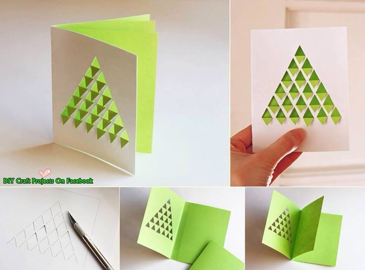 3D Christmas tree postcard | DIY | Pinterest