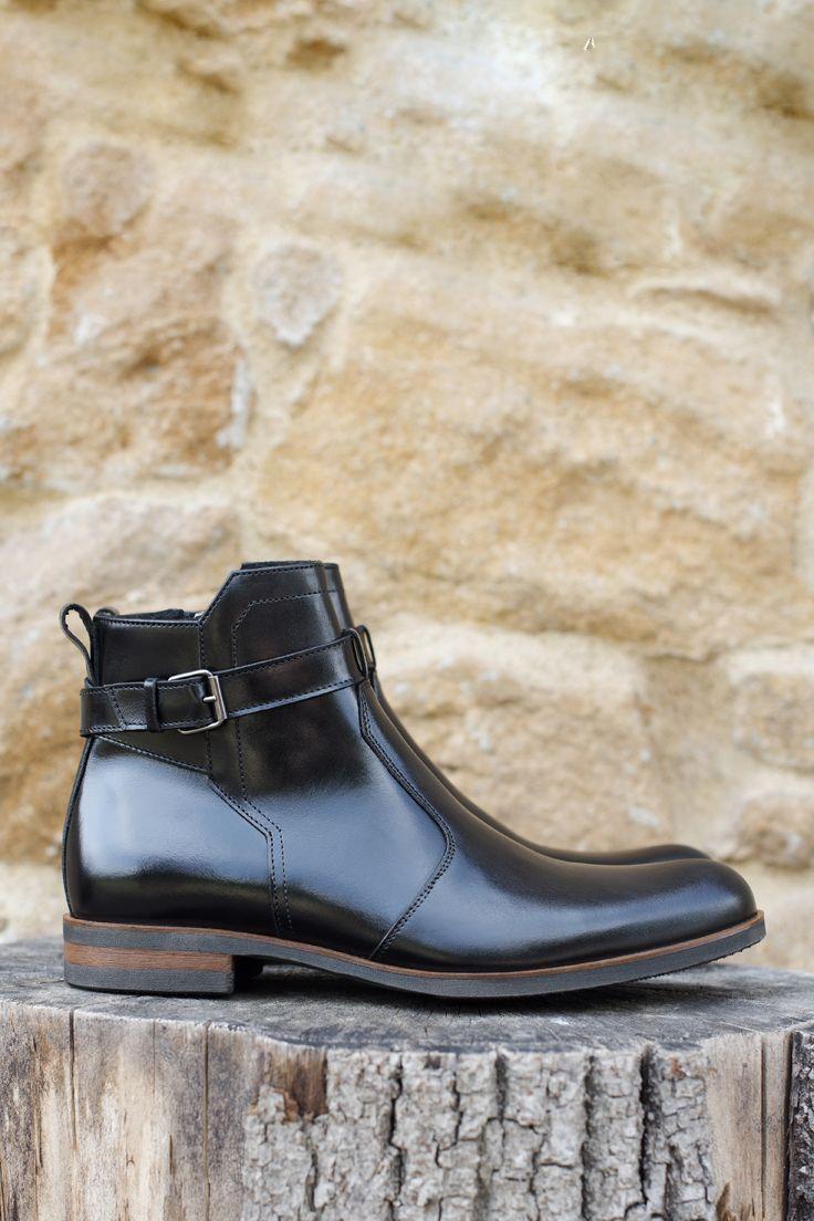 Trzewiki Czarne Skorzane Meskie Karl Ii Ce5826 02 Dress Shoes Men Oxford Shoes Boots