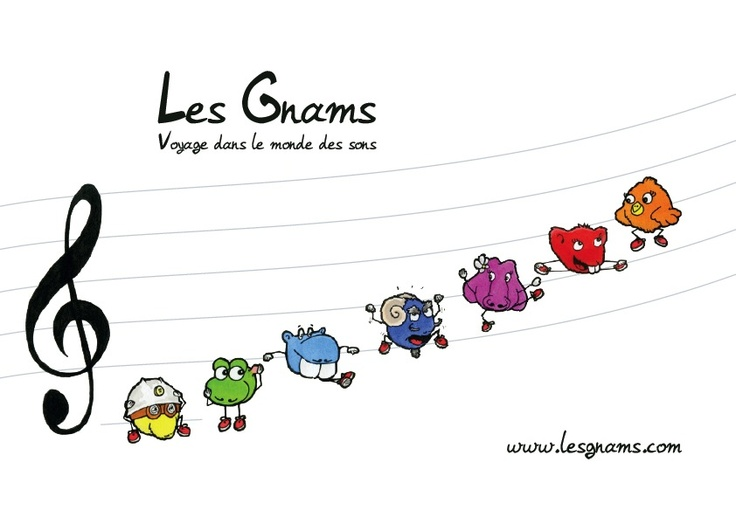 #illustration #drawing #art #kids #painting Les Gnams au complet - www.lesgnams.com