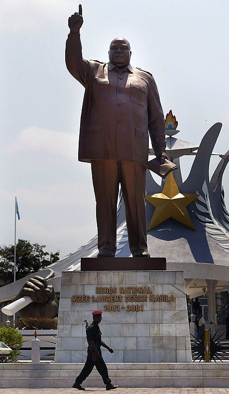 Tribute to Laurent Kabila in the capital