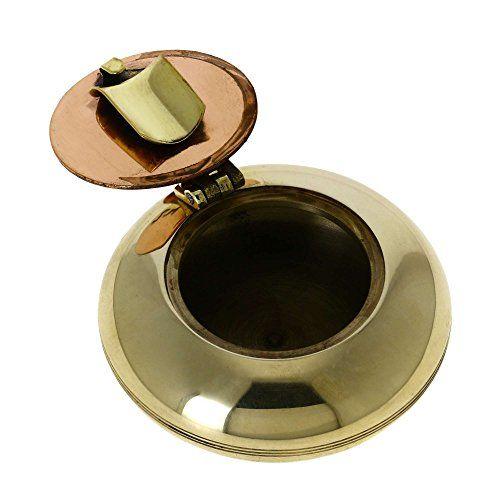 "Handmade Indian Brass Ashtray - 2.25"" Metal Pocket Ashtrays - Artisan Crafted - Great Gift for Smokers ShalinIndia http://www.amazon.com/dp/B00N8X6V7W/ref=cm_sw_r_pi_dp_PCJJvb0KQ1DD4"