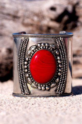 Red Stone Cuff