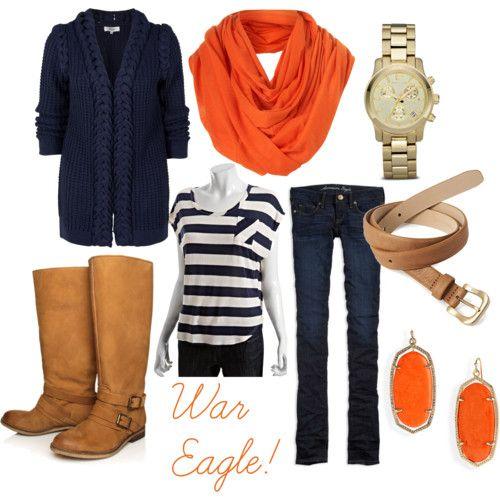 So cute- esp for an Auburn football game! Love this whole outfit.