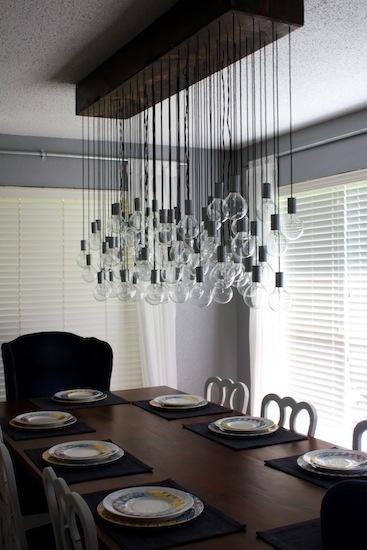 diy dining room light