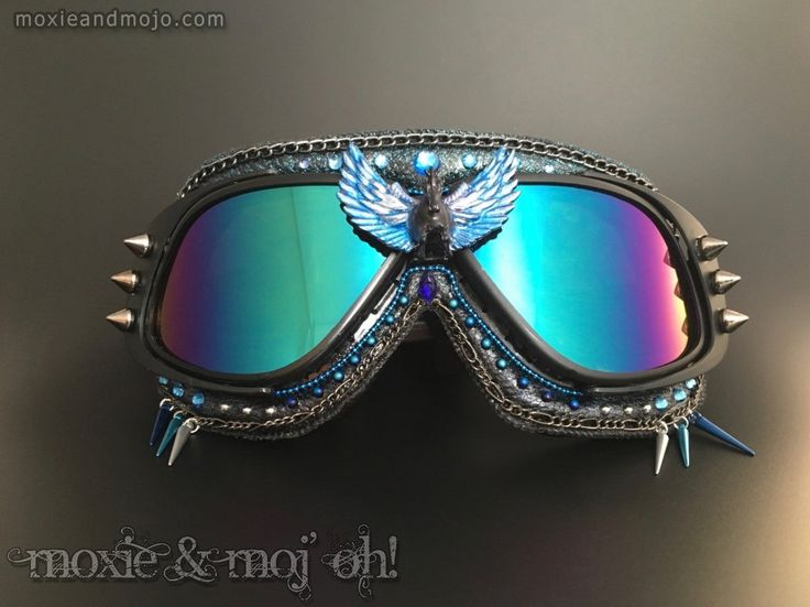 "Burning Man Goggles: ""Night Rider"" ~ anti-UV, dust goggles perfect for the Playa! by MoxieandMojoFashion on Etsy"