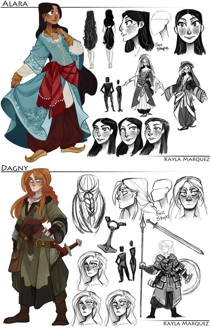 College Work: Alara and Dagny Designs by the-Orator on deviantART