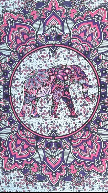Laptop Elephant Tumblr Mandala Wallpaper