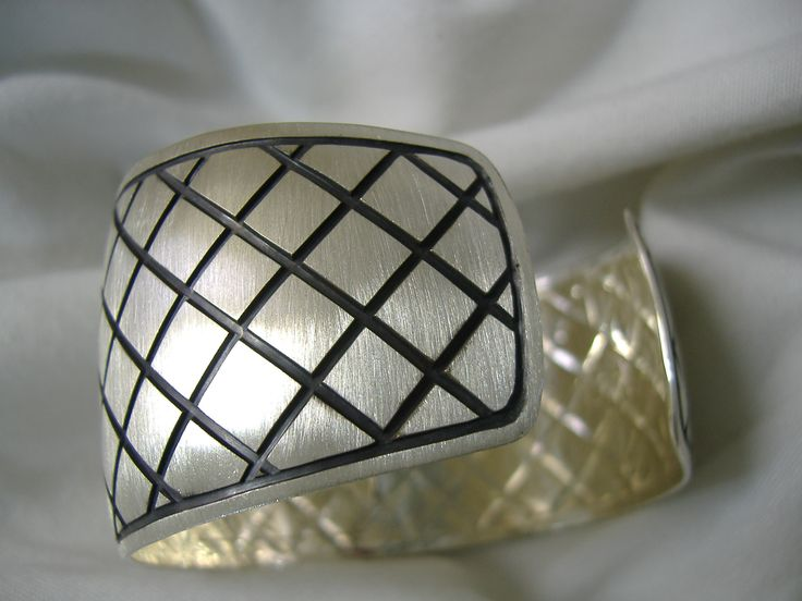 RIPPLES ON THE WATER chased silver bracelet by YA'YA