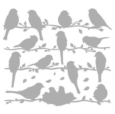 .bird silhouettes