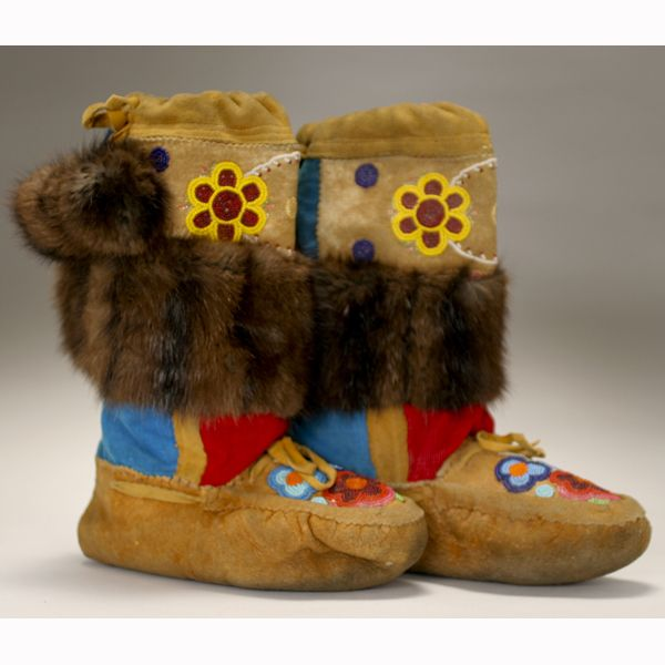Shoes: The OUCH Report - Native American Indian beaded mukluk moccasin boots.