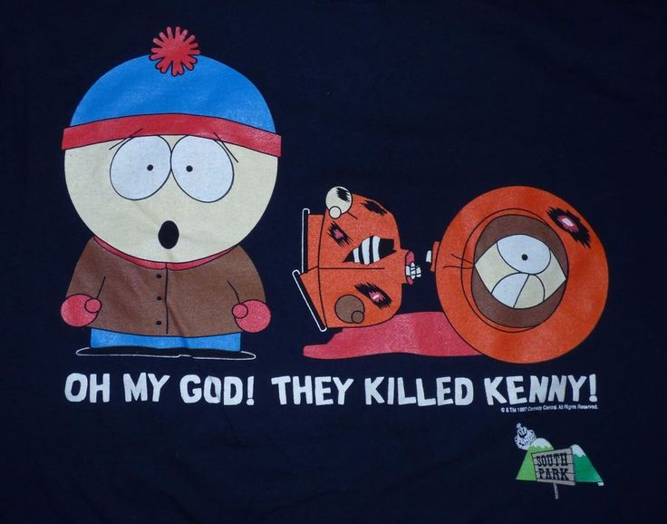 Vintage 90's South Park They Killed Kenny Shirt Size Large Comedy Central  #Tultex #GraphicTee