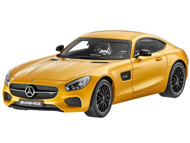 AMG GT S solarbeam 1:18 - B66960341  The Mercedes-AMG GT S sports car certainly deserves a place in the model car range. This miniature model in diecast zinc is impressively detailed and is finished in an authentic paintwork colour.