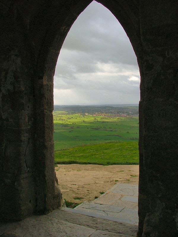 Glastonbury Tor, the mystical Avalon of the Athurian legends.  Gateway to Avalon by SilverOwl
