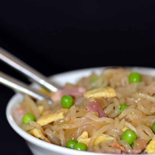 Spaghettis de Konjac façon riz cantonnais | Konjac