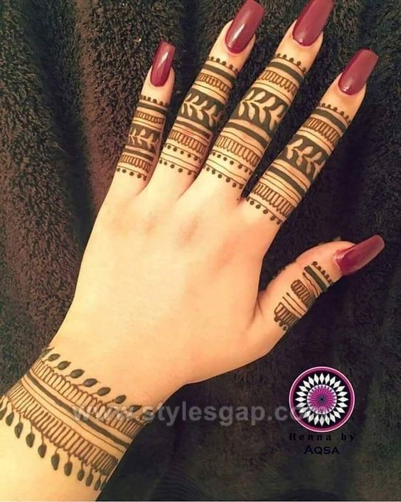 Only Finger Mehndi Design 2019