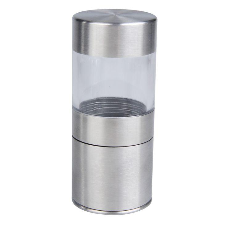 Stainless Steel Panduan Garam Merica pabrik Penggiling Portabel Dapur Alat Dapur Spice Sauce Mill Muller Rumah Penggiling Merica pabrik