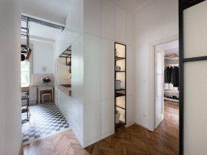 Art Deco lakás felújítása és a fekete acél,  #acél #artdeco #design #dizájn #eredeti #fehér #fekete #fekete-fehér #felújítás #fürdőszoba #konyha #közlekedő #lakás #modernvilágítás #mosdó #nappali #rejtett #stílus #szekrény #tároló #tükör, http://www.otthon24.hu/art-deco-lakas-felujitasa-es-a-fekete-acel/