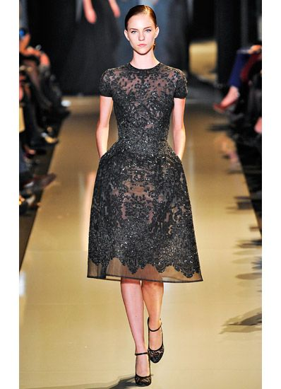 Elie Saab haute couture spring 2013 short black dress