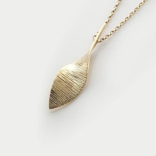 Irish Gold Designer Pendant - Bean Ri