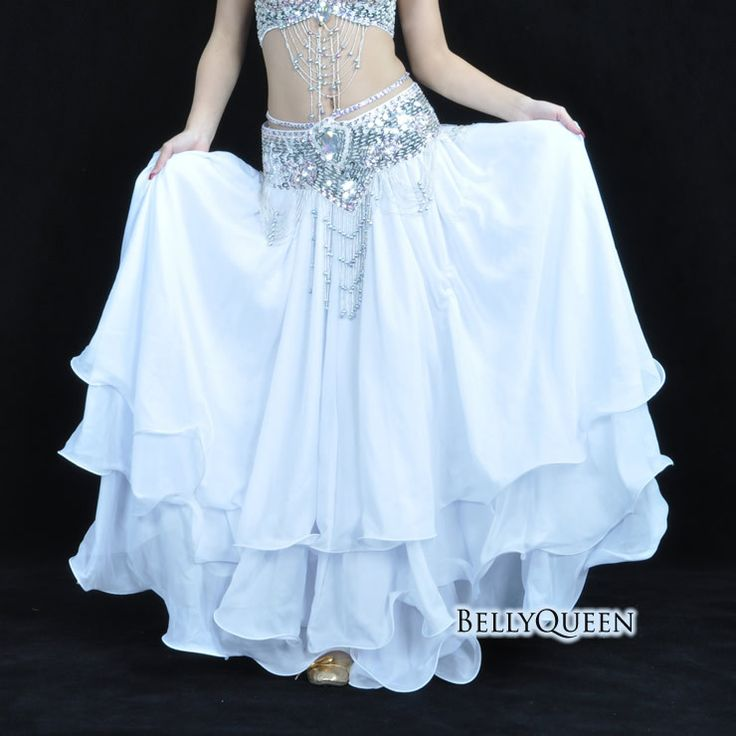 2015 High quality baru Leafroll double slit ear chiffon Belly Dancing rok panjang, Rok ayunan, Kostum tari perut Dance skirt