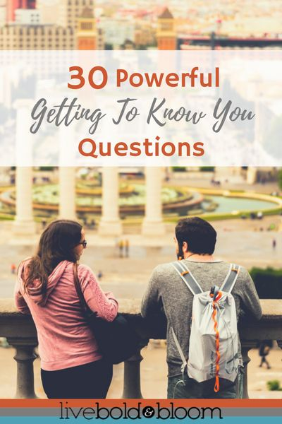 In this article you'll discover 30 getting to know you questions that will reignite your curiosity about people and help you really get to know someone.