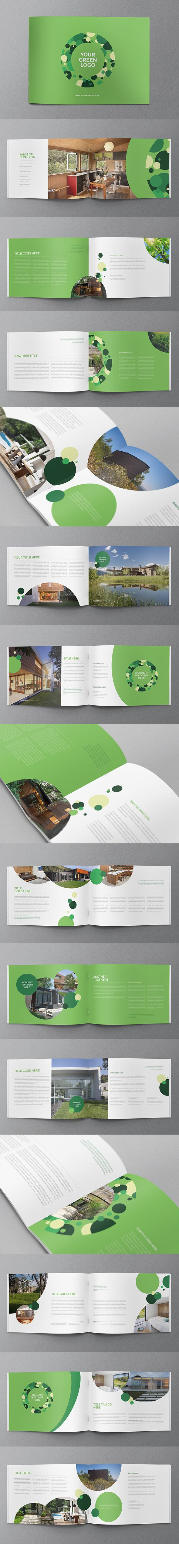 Green Modern Ecologic brochure design