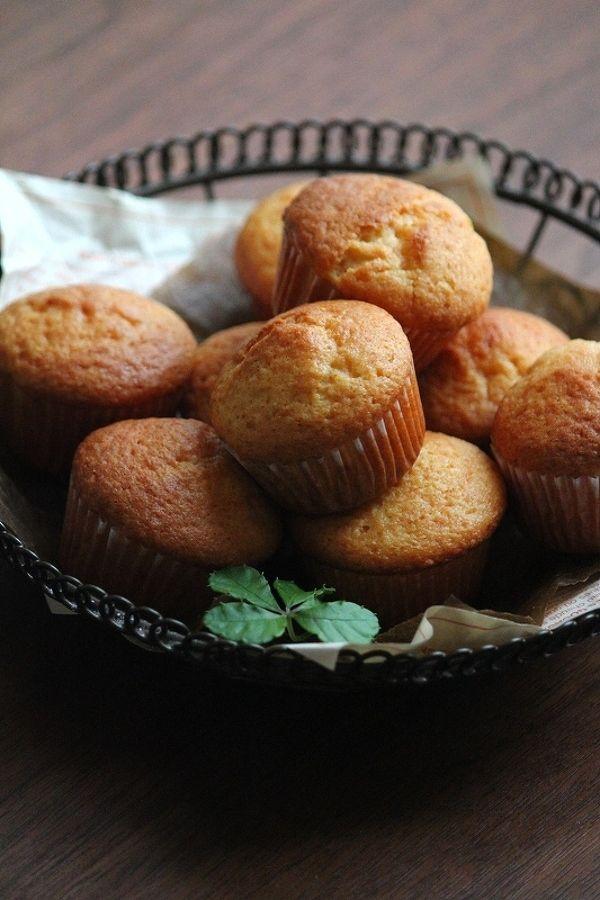 オイルで作る、プチ・カップケーキ。