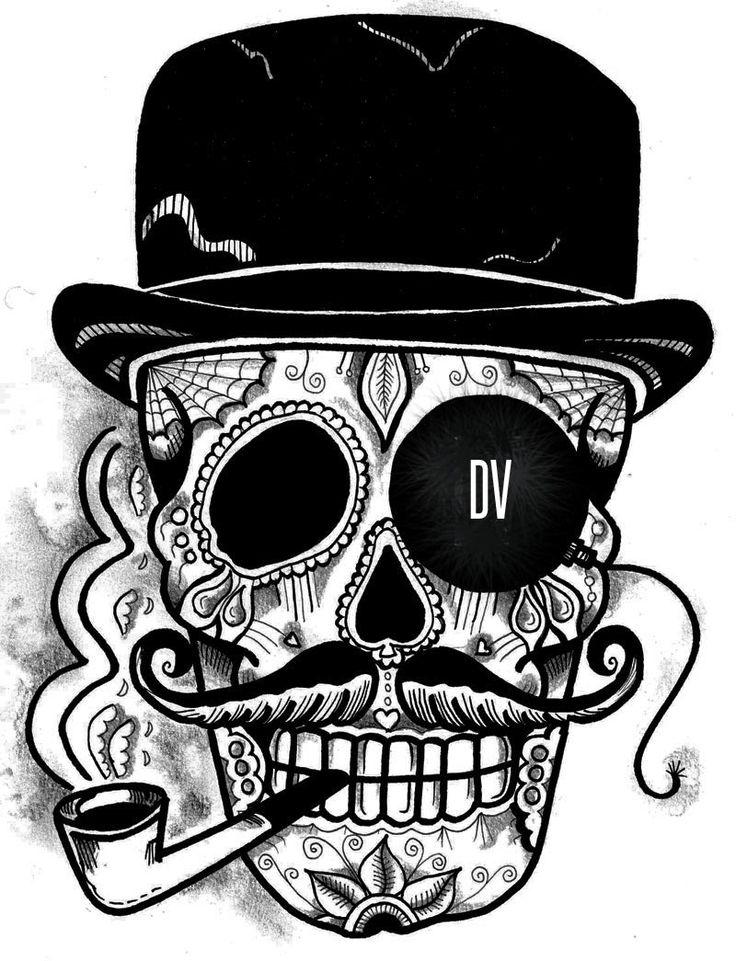Best 25 Calaveras mexicanas tattoo ideas on Pinterest  Dibujos