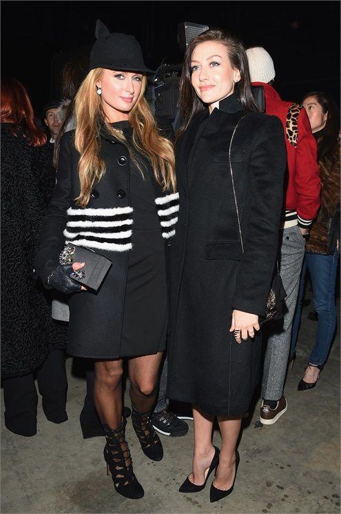 Paris Hilton e Eleonora Berlusconi dsquared2 milano fashion week 2015