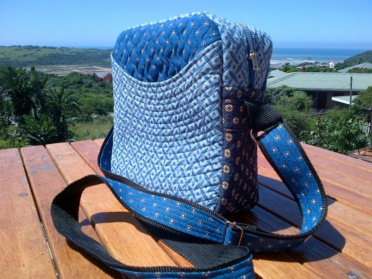 Handmade bag blue shweshwe