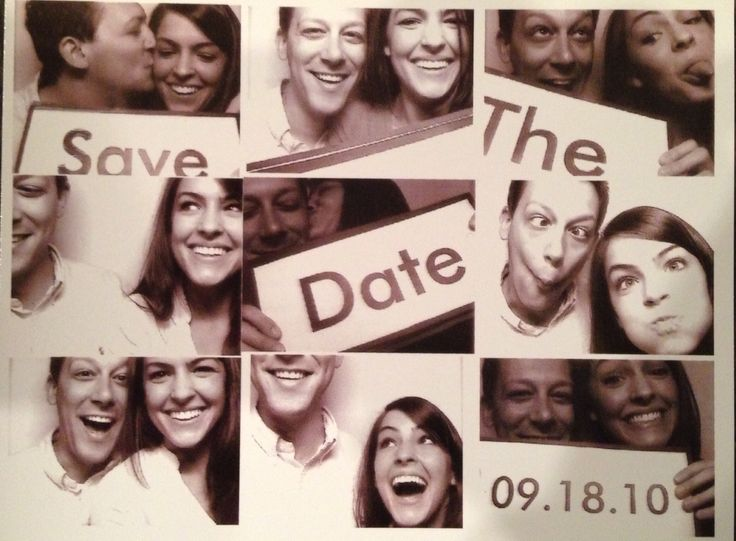 Save The Date Card #photobooth