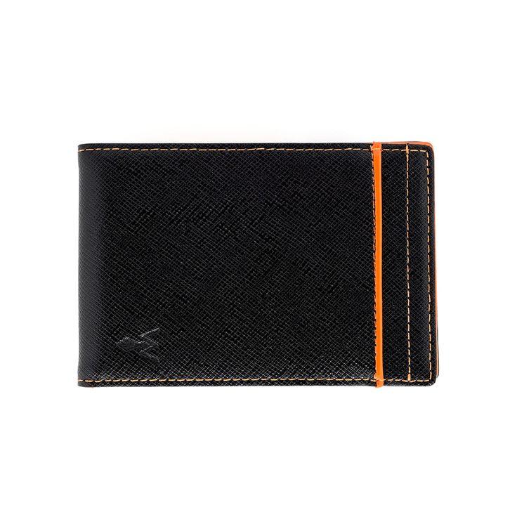 würkin stiffs - Men's Money Clip Wallet Rfid Blocker Orange, Pumpkin