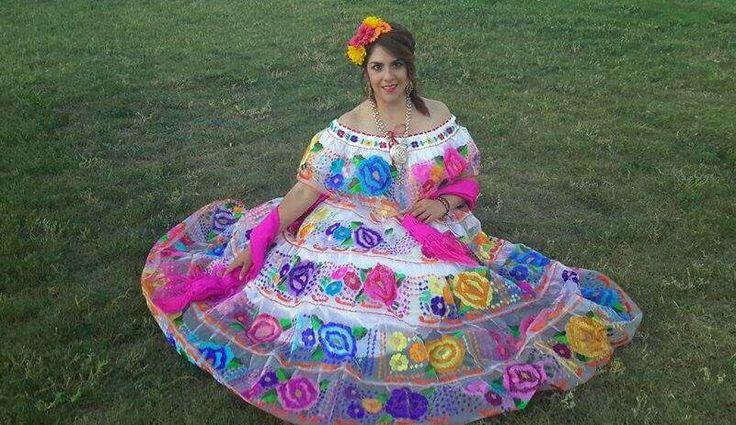 Traje mexicano típico de chiapas