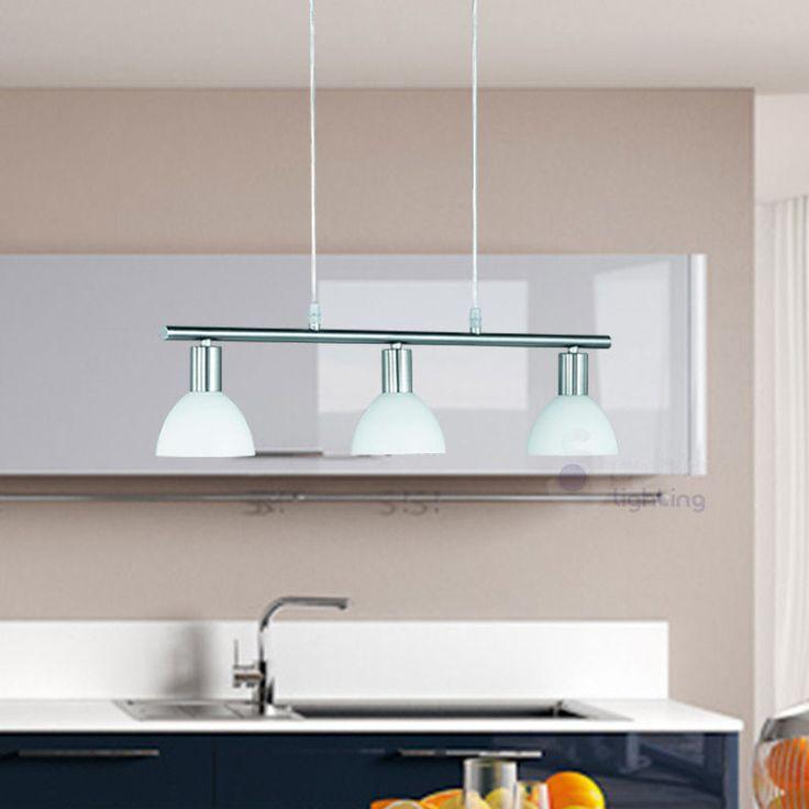 Lampadario 60,00 moderno acciaio cromato lampada sospensione salone ...
