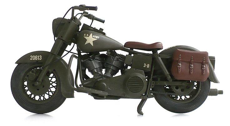 Harley Davidson Army: Harley Davidson FLH 1980 U.S. Army Motorcycle.