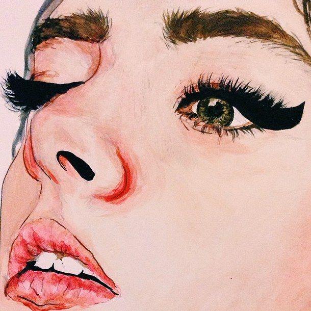 Inspiring Image on We Heart It  Two Eye Drawing Tumblr
