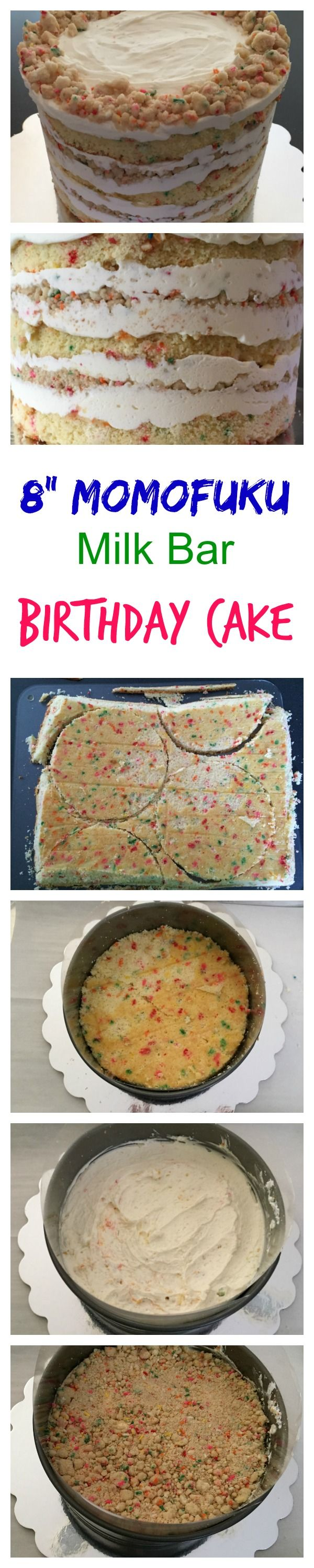 """The Momofuku Milk Bar Birthday Cake is a showstopper! Check out my 8"""" version--for when you need to feed a crowd-- at Daddydishes.com."""