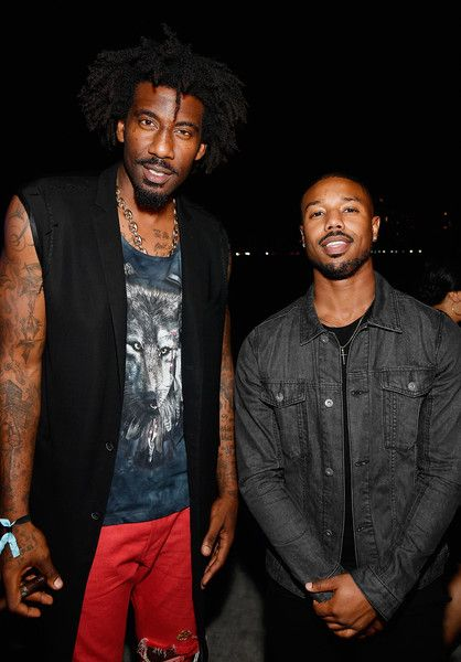 Michael B. Jordan Photos - Amar'e Stoudemire and Michael B. Jordan celebrate Miami Art Week at the American Express Platinum House at The Miami Beach EDITION on December 7, 2017 in Miami Beach, Florida. (Photo by Frazer Harrison/Getty Images for American Express Platinum) * Local Caption * Amar'e Stoudemire; Michael B. Jordan - Drake & Virgil Abloh Celebrate Miami Art Week At The American Express Platinum House At The Miami Beach EDITION