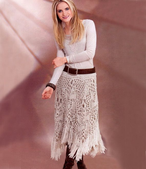 Maxi crochet skirt PATTERN exquisite design by FavoritePATTERNs